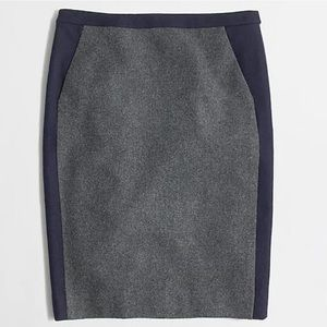 J.Crew Factory Pencil Skirt In Tipped Wool